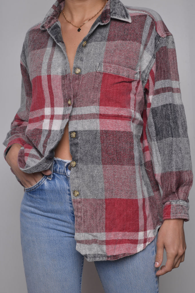 Faded Plaid Flannel