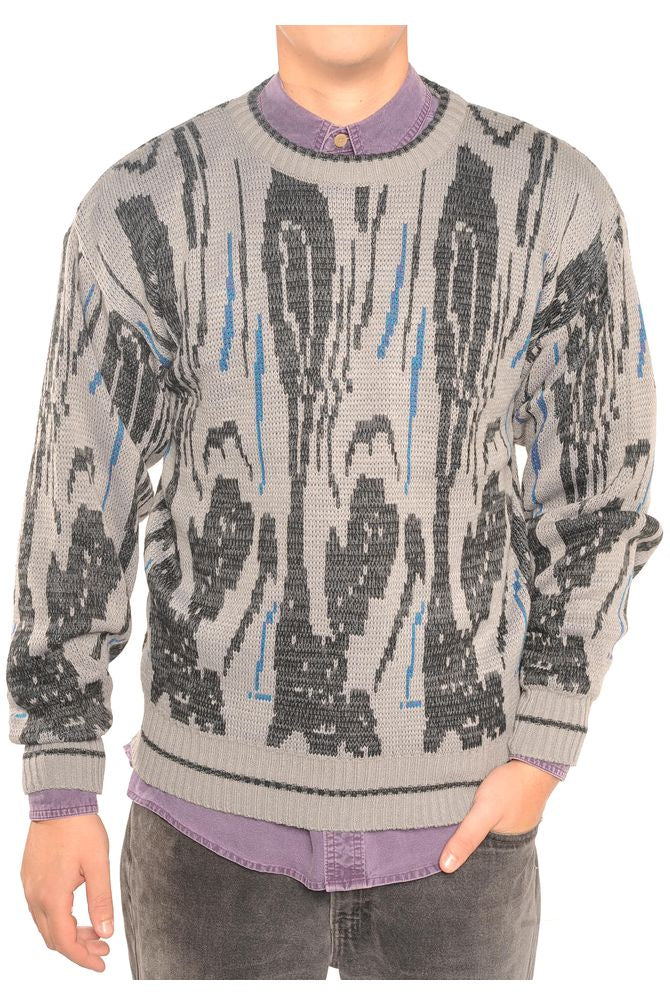 Gray Abstract Sweater