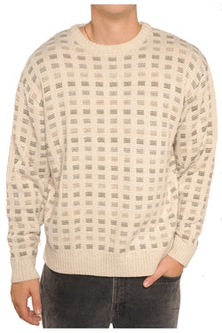 Beige Grandpa Sweater