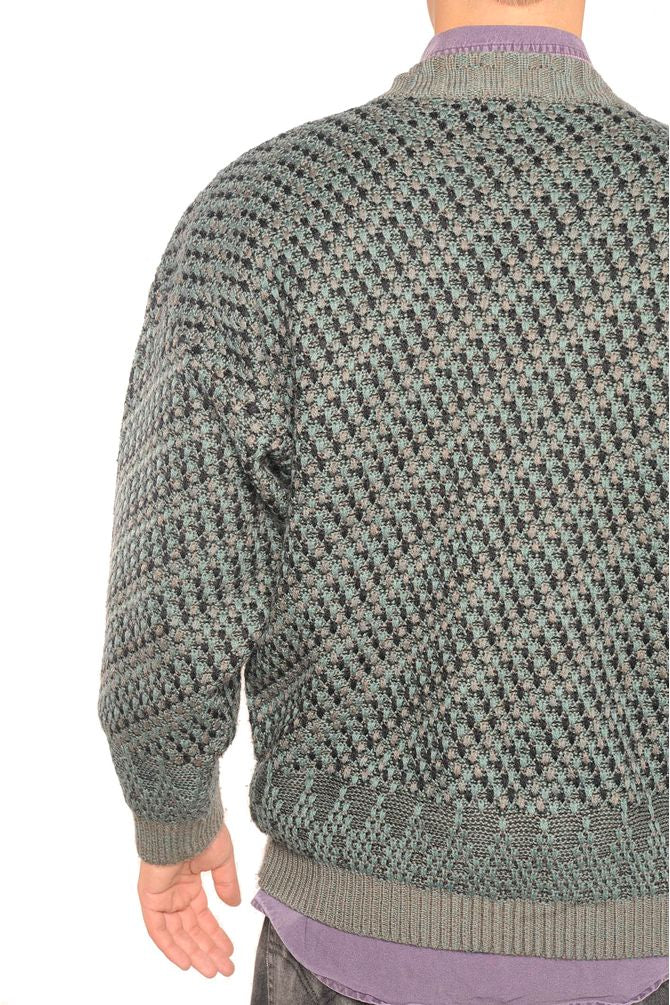 Gray Grandpa Sweater