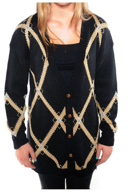 Metallic Beaded Cardigan