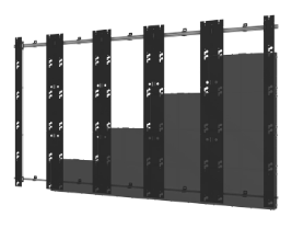 Flat Wall Mount for Unilumin UpanelS Series Direct View LED Displays