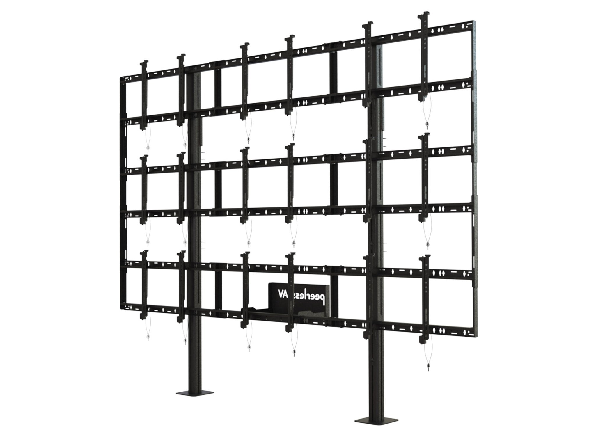 46 Micro-Adjustable Video Wall Cart//Stand Size