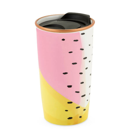 Bryce Color Block Ceramic Travel Mug