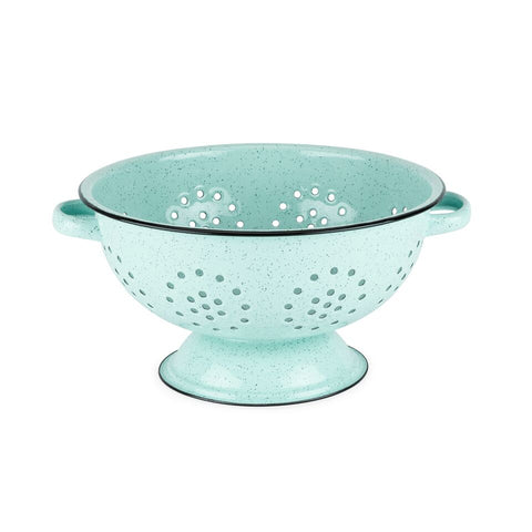 Pantry: Mint Enamel 5 Quart Colander by Twine®