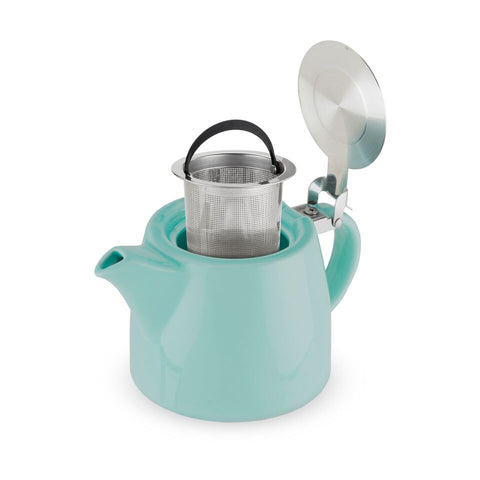 Harper Blue Ceramic Teapot & Infuser by Pinky Up
