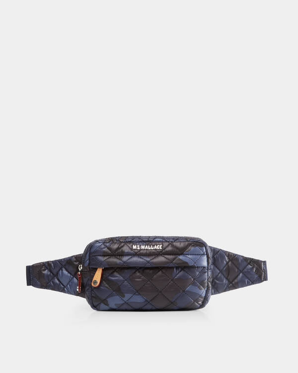 MZ WALLACE METRO BELT BAG IN DARK BLUE CAMO
