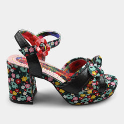 IRREGULAR CHOICE FLOWER PATTERN IN BLACK