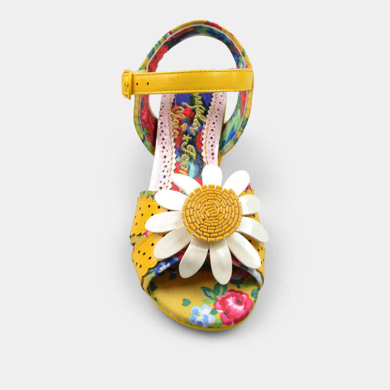 IRREGULAR CHOICE FLOWER VARIETY GIRL IN YELLOW