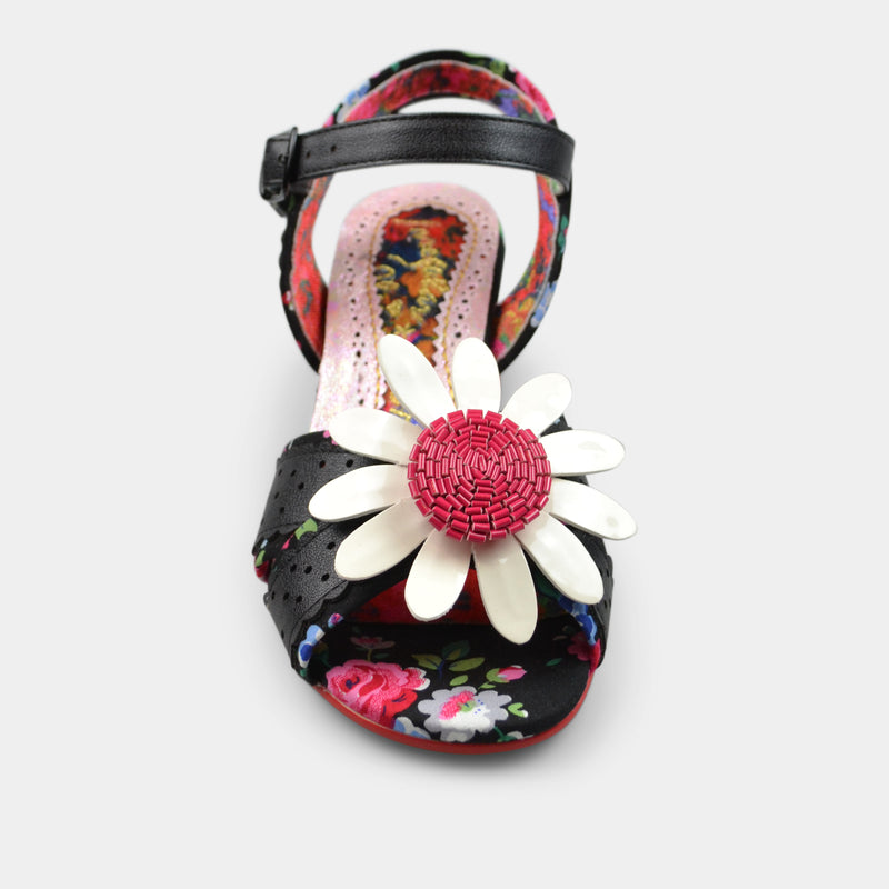 IRREGULAR CHOICE FLOWER VARIETY GIRL IN BLACK