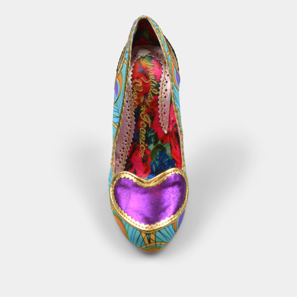 IRREGULAR CHOICE LOREN LOVE IN PURPLE