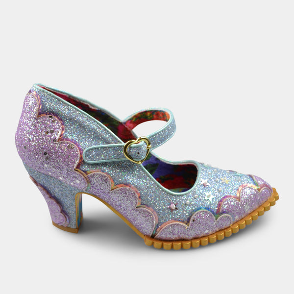 IRREGULAR CHOICE SHORTIE BREAD IN LIGHT BLUE