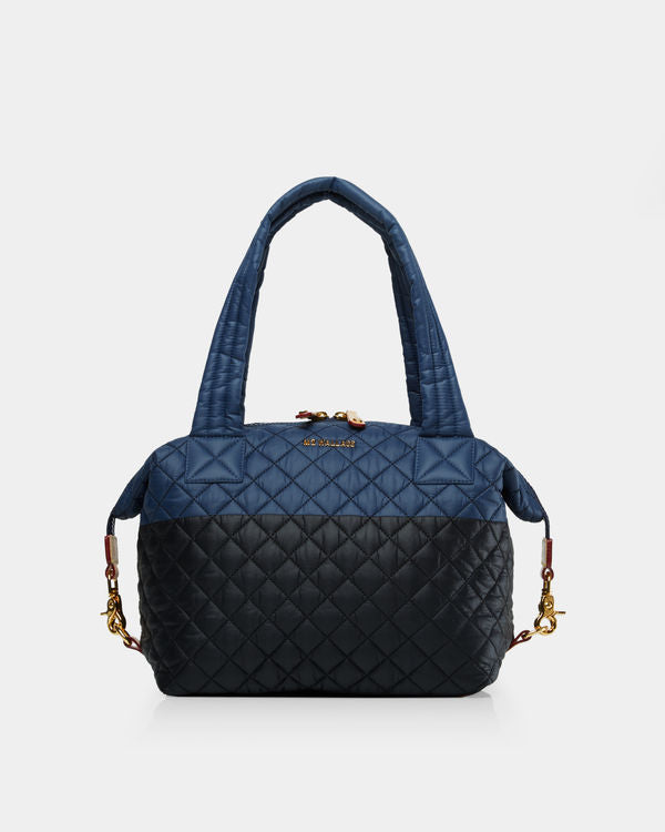 MZ WALLACE MEDIUM SUTTON IN NAVY/BLACK