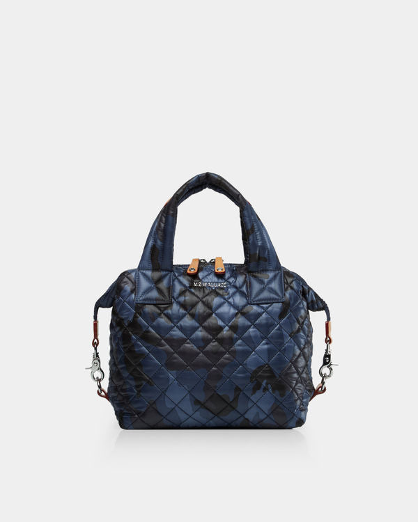 MZ WALLACE SMALL SUTTON IN DARK BLUE CAMO