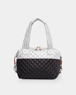 MZ WALLACE MEDIUM SUTTON IN TIN/BLACK