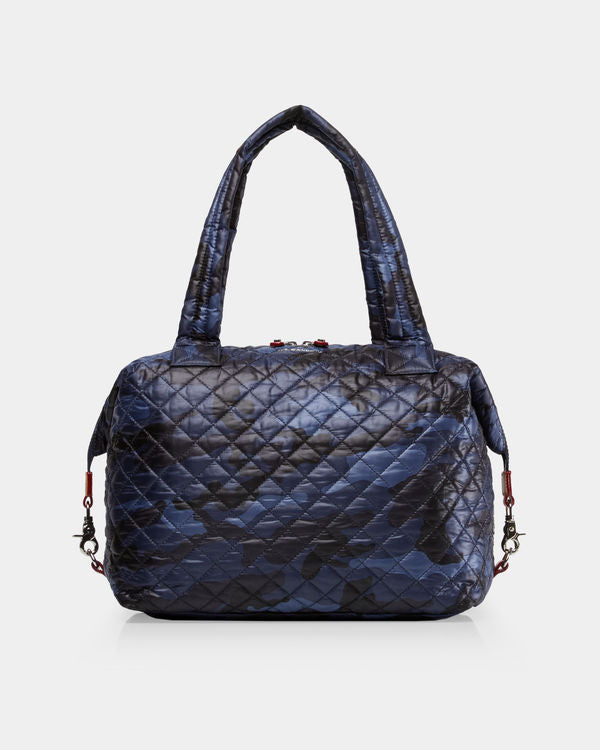 MZ WALLACE LARGE SUTTON IN DARK BLUE CAMO