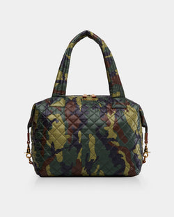 MZ WALLACE LARGE SUTTON IN DARK GREEN CAMO