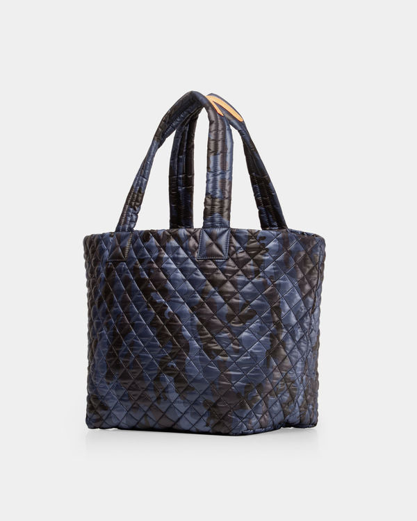 MZ WALLACE MEDIUM METRO TOTE IN DARK BLUE CAMO