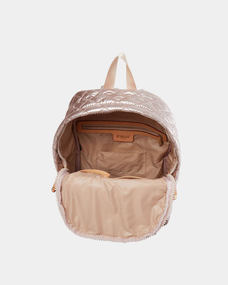 MZ WALLACE METRO BACKPACK IN ROSE GOLD