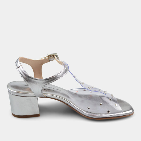 BRENDA ZARO DRESS SANDAL IN CLEAR
