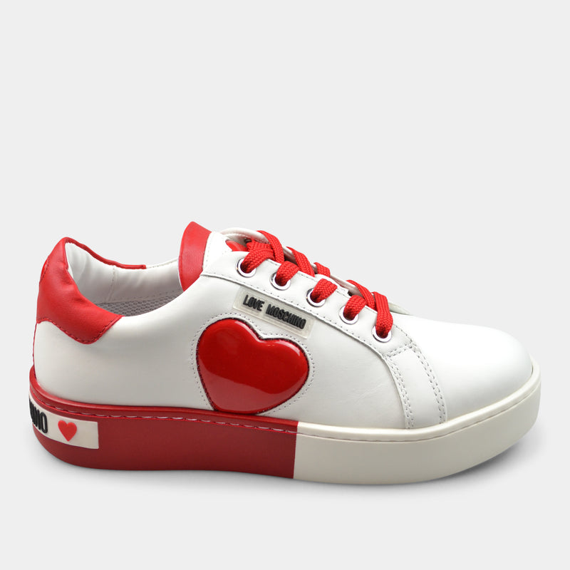 MOSCHINO LOVE SNEAKERS IN RED