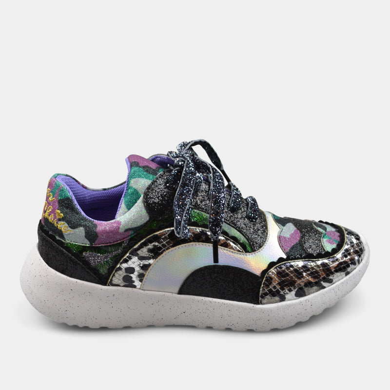 IRREGULAR CHOICE SNEAKERS IN ANIMAL PRINT PATTERN