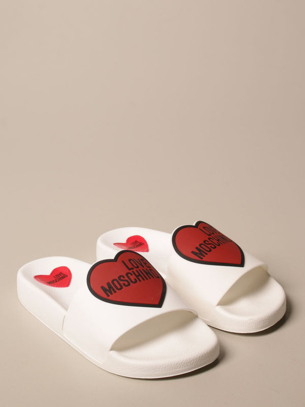 LOVE MOSCHINO HEART LOGO SLIPPER SANDAL