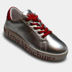 LOVE MOSCHINO SNEAKER IN SILVER