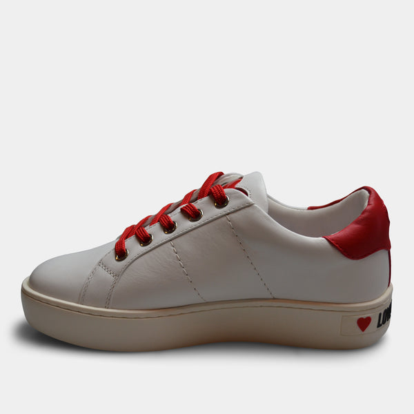 LOVE MOSCHINO SNEAKER IN WHITE
