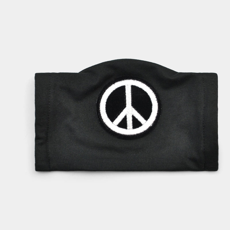 PEACE SIGN PRINT FACE MASK