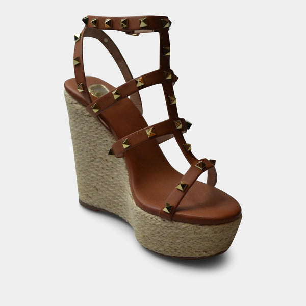 EXE' ROSA SANDAL WEDGE IN TAN