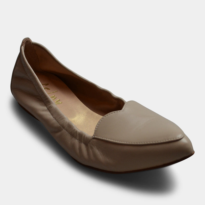 FRENCH SOLE HEART CLAUDIA FLAT IN BEIGE