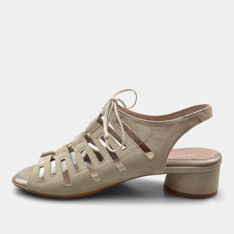 BEAUTIFEEL PAYTON WOMEN'S LACE UP HEEL IN BEIGE