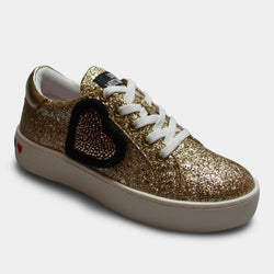 LOVE MOSCHINO SNEAKER IN GOLD