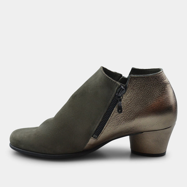 ARHCE MUSHKA BOOTIE IN GREEN SUEDE