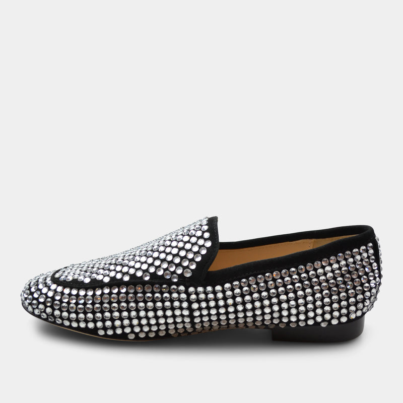 LOLA CRUZ LOAFERS IN BLACK