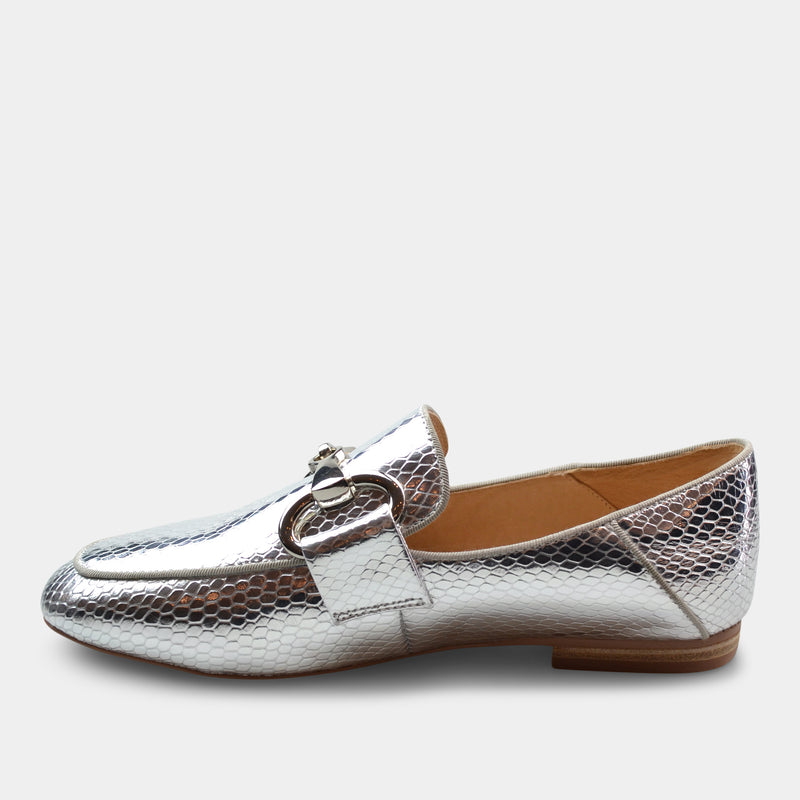 BIBI LOU LOAFERS IN SILVER
