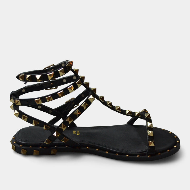 EXE' SANDAL IN BLACK