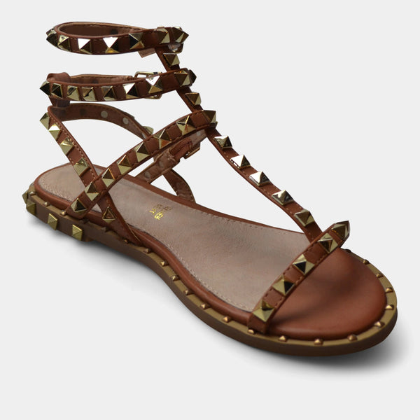 EXE' SANDAL VF942-1 IN BROWN