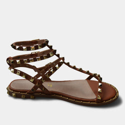 EXE' SANDAL IN BROWN