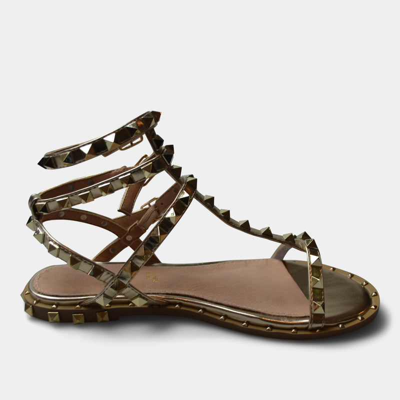 EXE' SANDAL IN GOLD