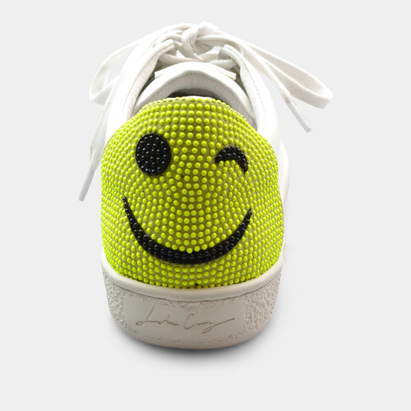 LOLA CRUZ WINK SNEAKER IN YELLOW