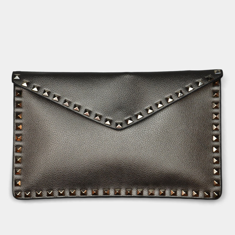 FASHION BY A STEP ABOVE SILVER ENVELOPE WITH STUDS