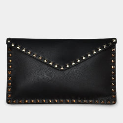 FASHION BY A STEP ABOVE BLACK ENVELOPE WITH STUDS