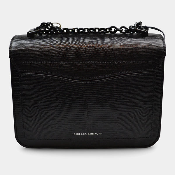 REBECCA MINKOFF BLACK CROSSBODY MINI BAG LOVE TOO MICRO