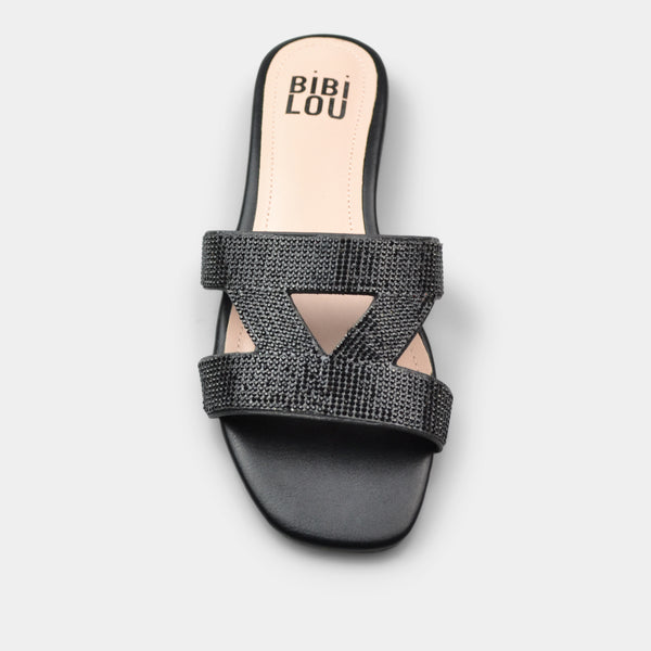 BIBI LOU SLIPPER SWART IN BLACK