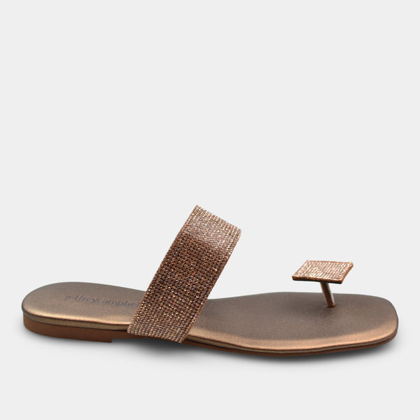 JEFFREY CAMPBELL SANDAL IN METALLIC BROWN