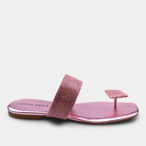 JEFFREY CAMPBELL SANDAL IN METALLIC PINK