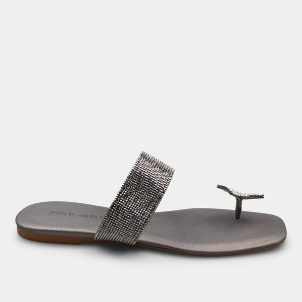 JEFFREY CAMPBELL SANDAL IN METALLIC GREY