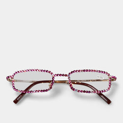 FASHION BY A STEP ABOVE READING GLASSES PINK LENS